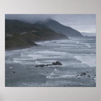 USA, Oregon, Coastline Poster