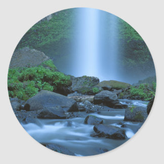 USA, Oregon, Columbia Gorge, Latourell Falls Classic Round Sticker