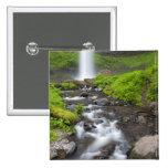 USA, Oregon, Columbia River Gorge, Latourell 2 Inch Square Button