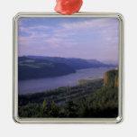 USA, Oregon, Columbia River Gorge National 4 Square Metal Christmas Ornament