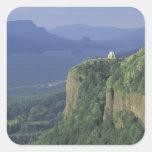 USA, Oregon, Columbia River Gorge NSA. View of Square Sticker