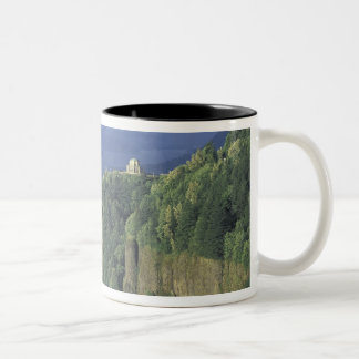 USA, Oregon, Columbia River Gorge NSA. View of Two-Tone Coffee Mug