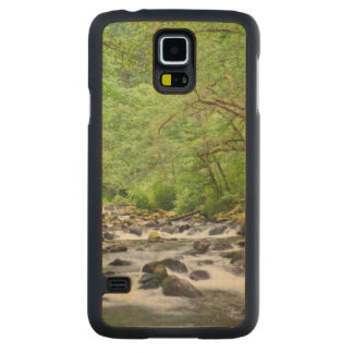 USA, Oregon, Columbia River Gorge, Tanner Creek 4 Carved Maple Galaxy S5 Case
