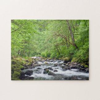 USA, Oregon, Columbia River Gorge, Tanner Creek 4 Jigsaw Puzzles