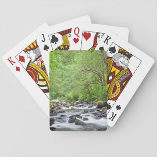 USA, Oregon, Columbia River Gorge, Tanner Creek 4 Playing Cards
