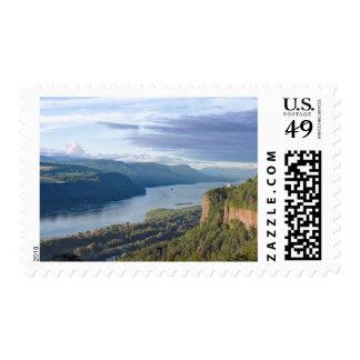 USA, Oregon, Columbia River Gorge, Vista House Postage Stamp