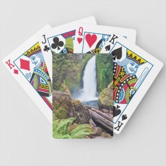 USA, Oregon, Columbia River Gorge, Wahclella Bicycle Playing Cards