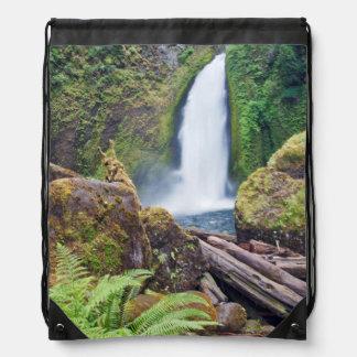 USA, Oregon, Columbia River Gorge, Wahclella Drawstring Bags