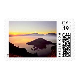 USA, Oregon, Crater Lake National Park 3 Postage Stamps