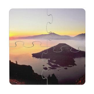USA, Oregon, Crater Lake National Park 3 Puzzle Coaster