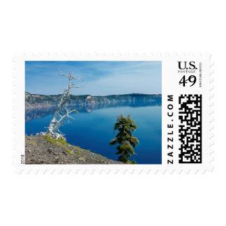USA, Oregon, Crater Lake National Park 4 Stamps
