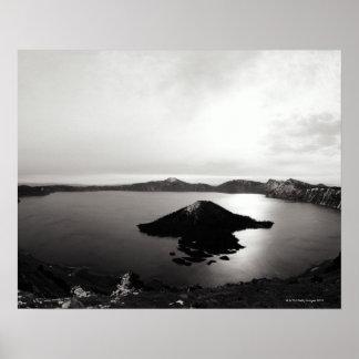 USA, Oregon, Crater Lake, Wizard Island, Poster