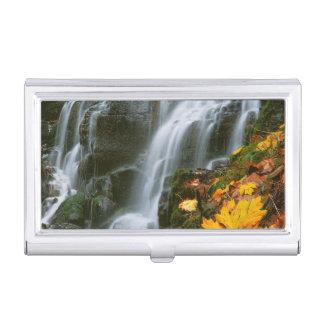 USA, Oregon, Fairy Falls, Columbia River Gorge Business Card Holder
