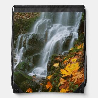 USA, Oregon, Fairy Falls, Columbia River Gorge Drawstring Backpack