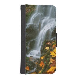 USA, Oregon, Fairy Falls, Columbia River Gorge iPhone 5 Wallet Case