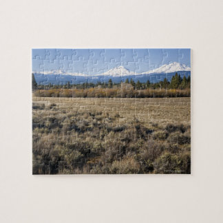 USA Oregon Field with snow covered Cascade Puzzle