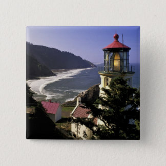 USA, Oregon, Florence. Heceta Head Lighthouse Button