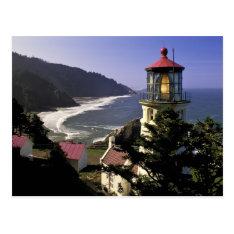 Usa, Oregon, Florence. Heceta Head Lighthouse Postcard at Zazzle
