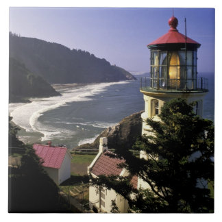 USA, Oregon, Florence. Heceta Head Lighthouse Tile