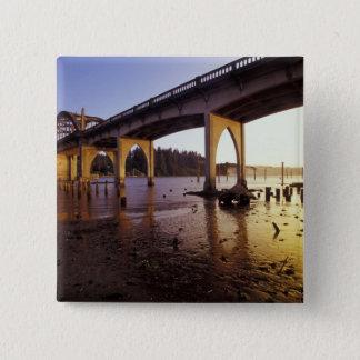 USA, Oregon, Florence. Siuslaw Bridge and Button