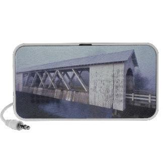 USA, Oregon. Gilkey covered bridge spans Travelling Speaker