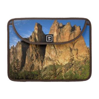 USA, Oregon, Granite Cliffs At Smith Rock State MacBook Pro Sleeve