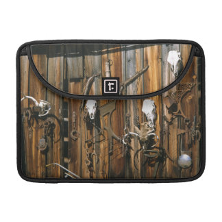 USA, Oregon, Harney County. Old livery stable Sleeve For MacBook Pro