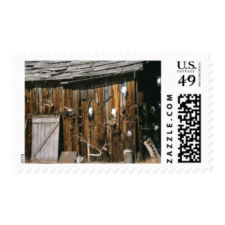 USA, Oregon, Harney County. Old livery stable Stamp
