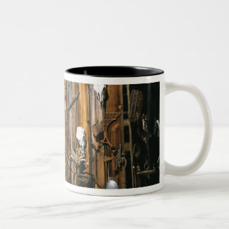 USA, Oregon, Harney County. Old livery stable Two-Tone Coffee Mug