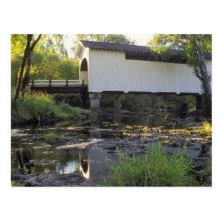 USA, Oregon. Harris covered bridge over Marys Postcard