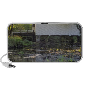USA, Oregon. Harris covered bridge over Marys Laptop Speakers