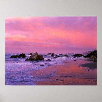USA, Oregon, Harris State Beach, Brookings. Poster