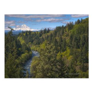 USA, Oregon, High angle view of Hood river with Postcard