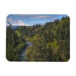 USA, Oregon, High angle view of Hood river with Rectangular Photo Magnet