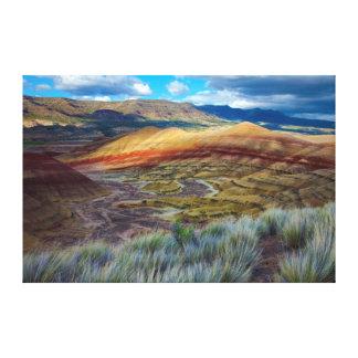 USA, Oregon. Landscape Of The Painted Hills Canvas Print