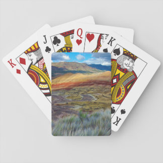 USA, Oregon. Landscape Of The Painted Hills Playing Cards