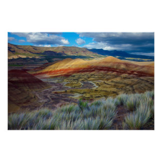USA, Oregon. Landscape Of The Painted Hills Poster