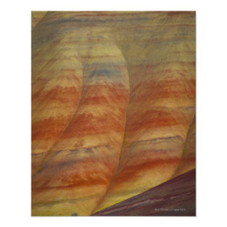 USA, Oregon, Mitchell, Painted Hills, Close-up Poster