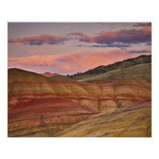 USA, Oregon, Mitchell, Painted Hills during 2 Poster