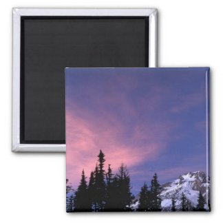 USA, Oregon, Mount Hood from Timberline 2 Inch Square Magnet