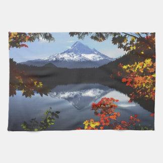 USA, Oregon, Mt. Hood National Forest. Kitchen Towel