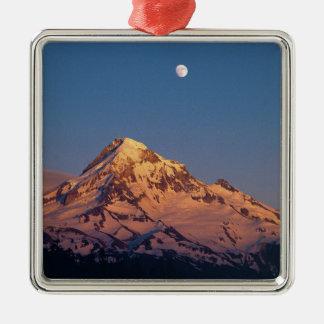 USA, Oregon, Mt Hood. Sunset creates alpenglow Christmas Tree Ornament