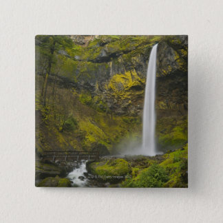 USA, Oregon, Multnomah County, Elowah Falls Pinback Button