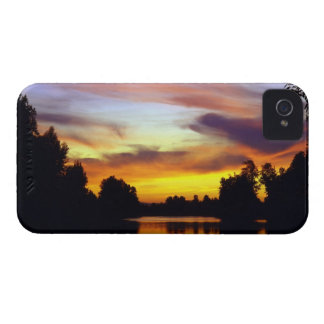 USA, Oregon, Multnomah County. Sunset viewed iPhone 4 Case-Mate Cases
