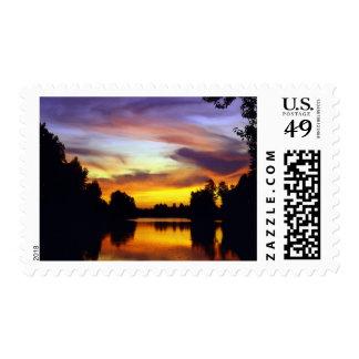 USA, Oregon, Multnomah County. Sunset viewed Postage