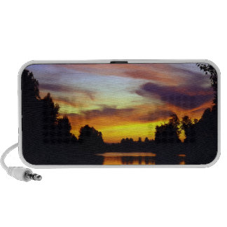 USA, Oregon, Multnomah County. Sunset viewed Notebook Speakers