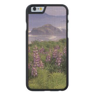 USA, Oregon, Nesika Beach. Lupine and Oregon Carved® Maple iPhone 6 Slim Case