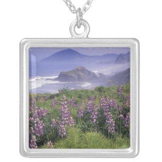 USA, Oregon, Nesika Beach. Lupine and Oregon Custom Jewelry
