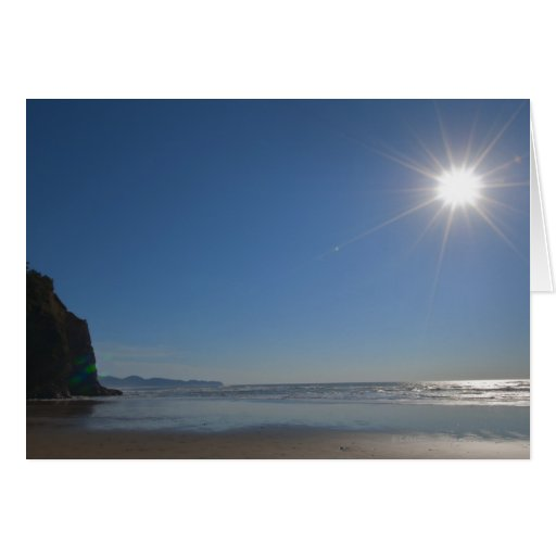 USA, Oregon, Pacific City, sun and beach Greeting Cards