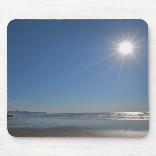 USA, Oregon, Pacific City, sun and beach Mouse Pad